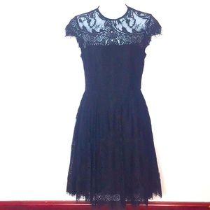 BB DAKOTA BLACK LACEY SHEER DRESS NWT